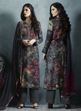 Sahiba 08 Grey Color Cotton Satin Designer Suit