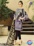 SC 12687 Black and Multicolor Printed Lawn Suit
