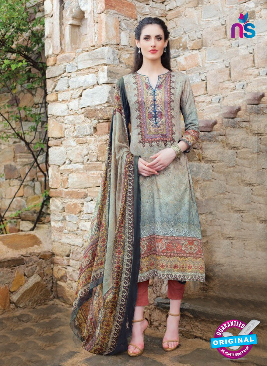 T&M 09 Beige Cotton Satin Exclusive Fancy Designer Straight Plazo Suit