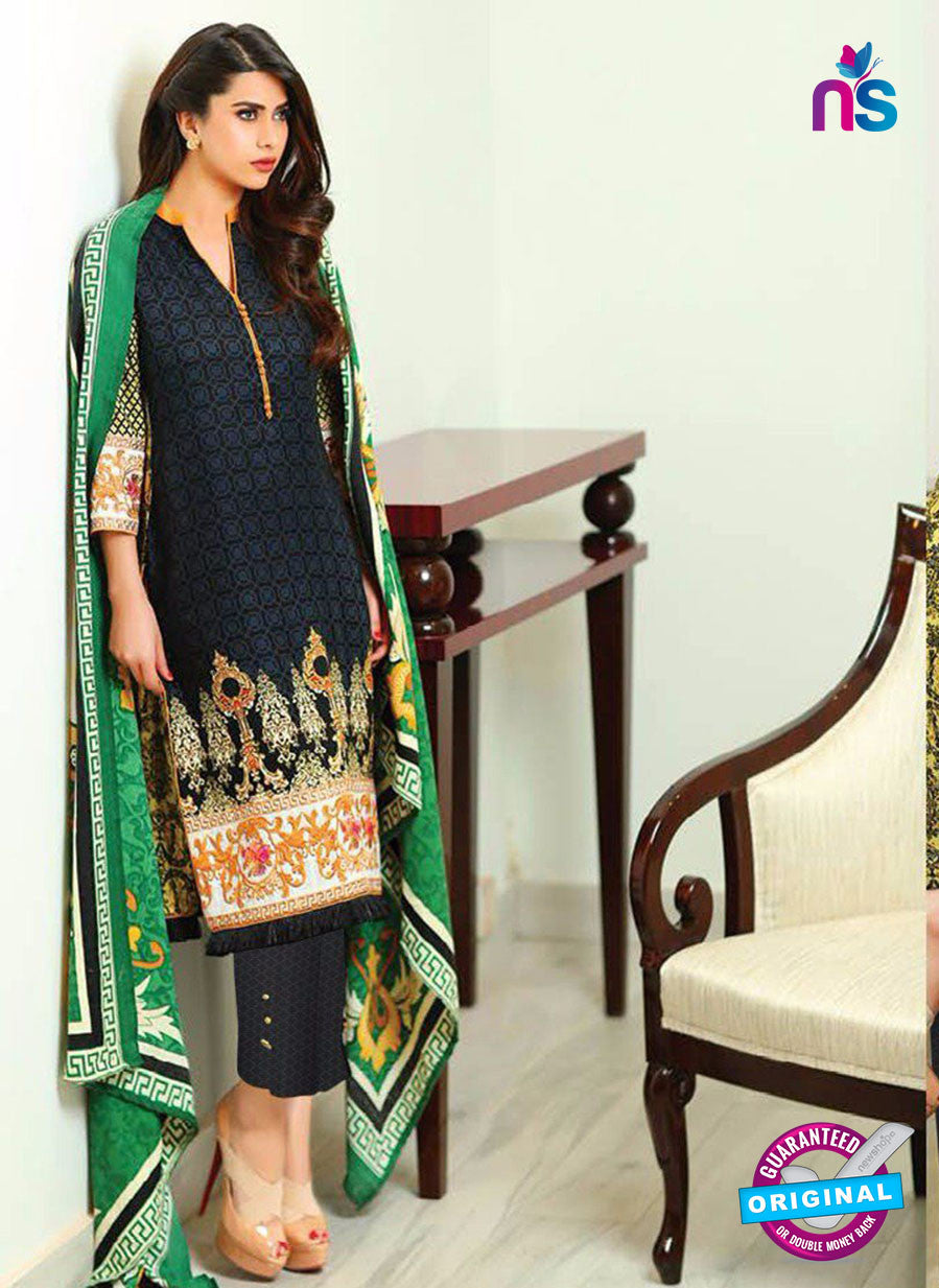 SC 13638 Black and Multicolor Embroidered Lawn Pakistani Suit