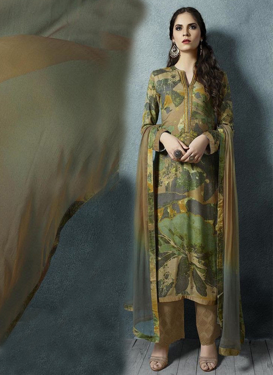 Sahiba 09 Yellow Color Cotton Satin Designer Suit