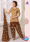 NS11109 Brown and Brown Satin Patiala Suit