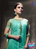 Vyna 10001 Sea Green Faux Georgette Indo Western Suit Online