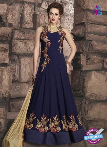 Khwaab 10001 Blue Anarkali Suit