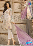 SC 12541 Beige and Multicolor Embroidered Pure Cambric Cotton Suit