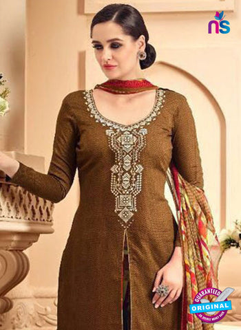 SC 42289 Brown Designer Plazo Suit