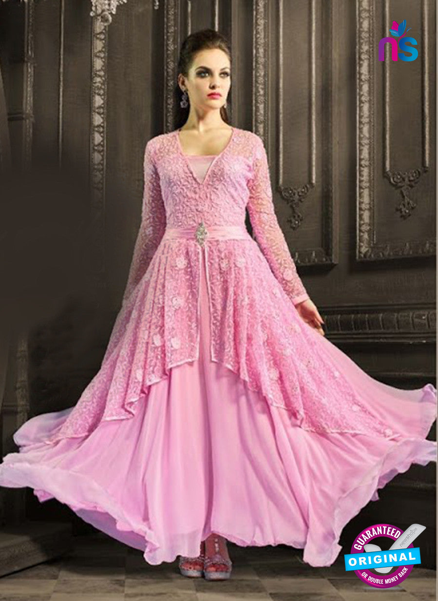 AZ 3971 Pink Faux Georgette Anarkali Suit