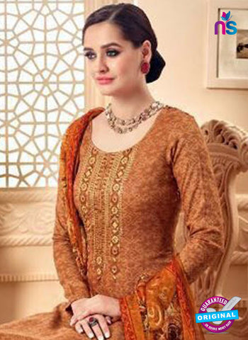 SC 42291 Brown Designer Plazo Suit
