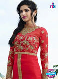 Smile 10004 Red Georgette Party Wear Suit Online