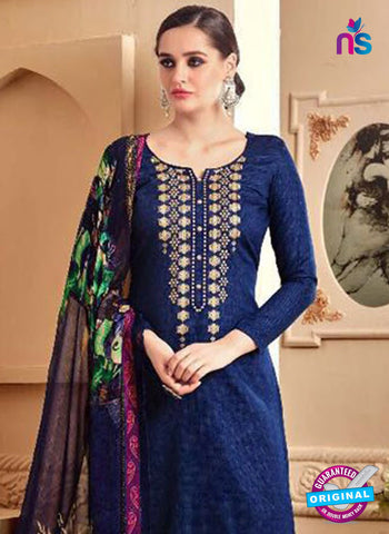 SC 42294 Blue Designer Plazo Suit