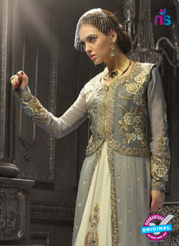 AZ 3973 Grey Faux Georgette Indo Western Suit