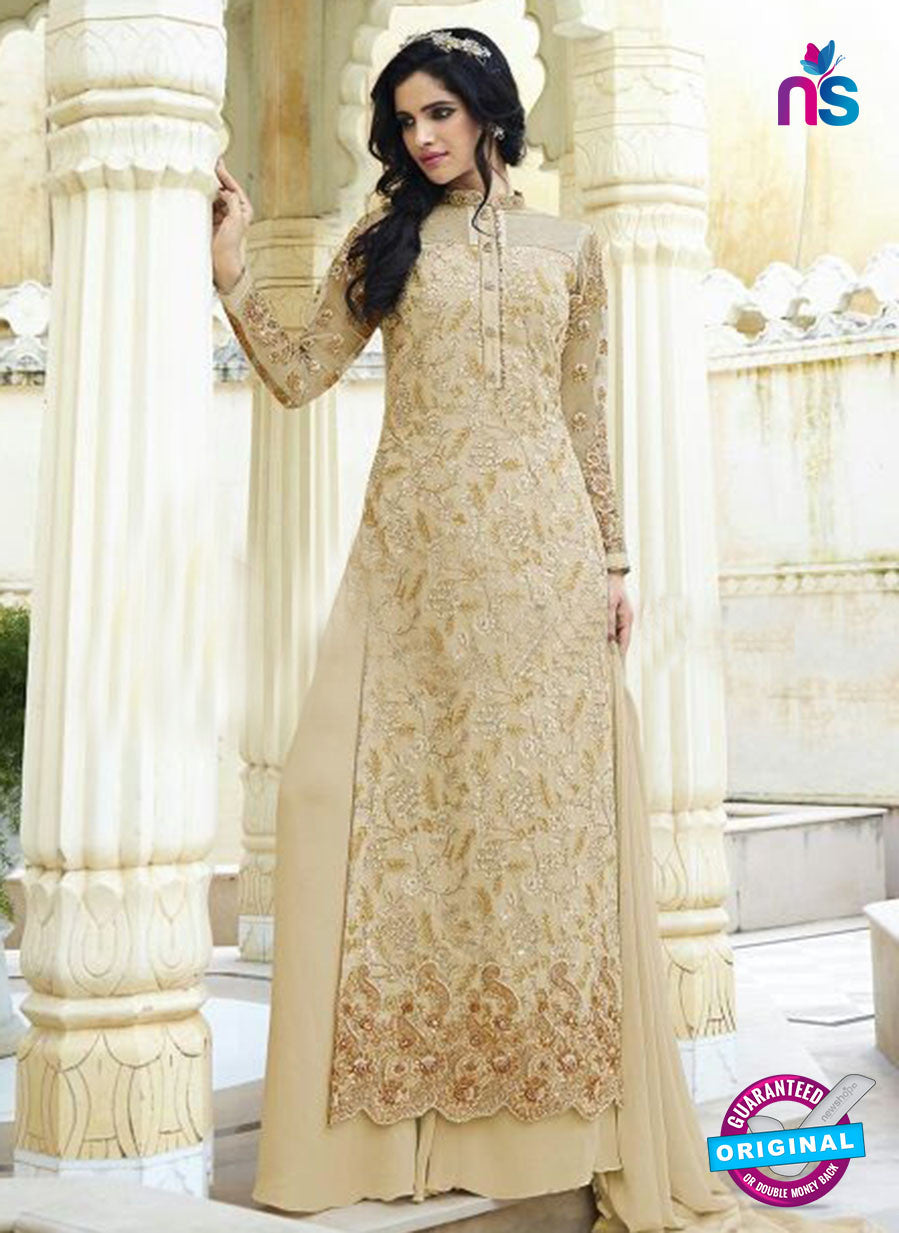 Smile 10005 Beige Georgette Party Wear Suit