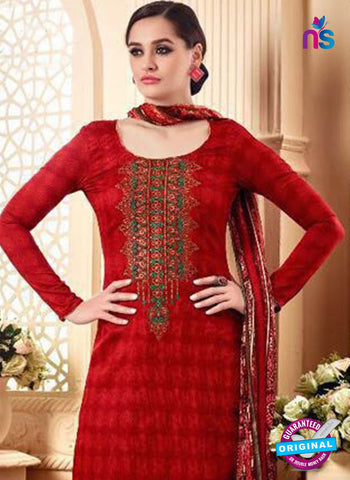SC 42295 Red Designer Plazo Suit