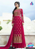 Smile 10006 Magenta Georgette Party Wear Suit