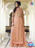 Smile 10007 Peach Georgette Party Wear Suit