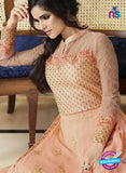 Smile 10007 Peach Georgette Party Wear Suit Online