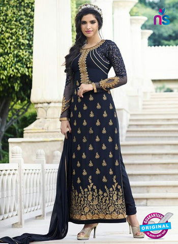 Smile 10008 Blue Georgette Party Wear Suit