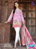 SC 12537 Pink and White Embroidered Pure Cambric Cotton Daily Wear Pakistani Style Indian Suit