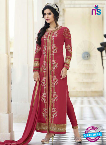 Smile 10009 Pink Georgette Party Wear Suit