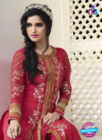 Smile 10009 Pink Georgette Party Wear Suit Online
