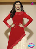 NS10894 B Red and Beige Party Wear Georgette Gawn