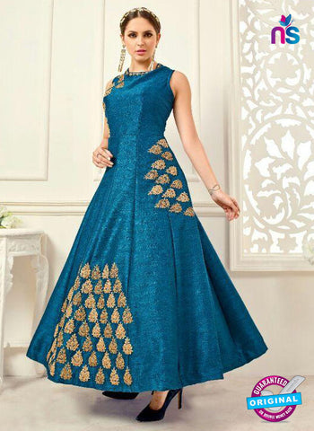 Designer Suit 1001 Sky Blue Anarkali Suit