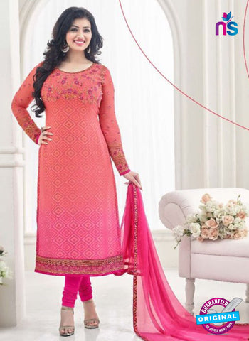 AZ 4061 Peach Georgette Party Wear Suit