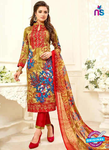 SC 42313 Yellow Formal Cotton Suit