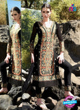 SC 12916 Black and Multicolor Faux Georgette Party Wear Straight Suit