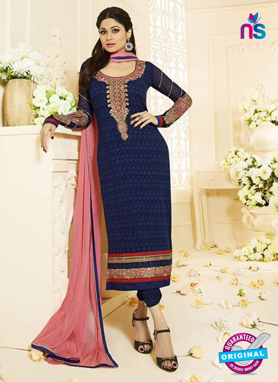 Vivek Fashion 1001 Blue Georgette Designer Suit