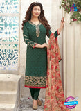 SC  13796 Green Designer Exclusive Fancy Function Wear Georgette Chudidar Suit