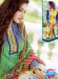 SC 13641 Multicolor and Blue Printed Glace Satin Cotton Designer Fancy Ethnic Exclusive Salwar Straight Suit