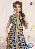 NS10772 a Dark Blue Party Wear Georgette Designer Straight Suit