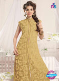 NS10774 C Golden Party Wear Georgette Designer Straight Suit Online