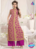 NS10775 d Pink Party Wear Georgette Designer Straight Suit