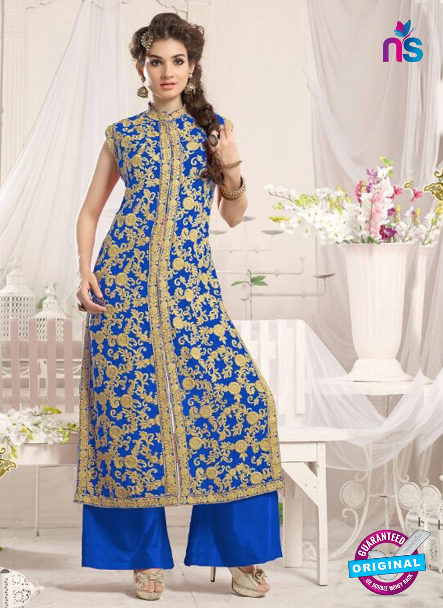 NS10776 e Light Blue Party Wear Georgette Designer Straight Suit