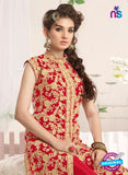 NS10777 f Red Party Wear Georgette Designer Straight Suit Online