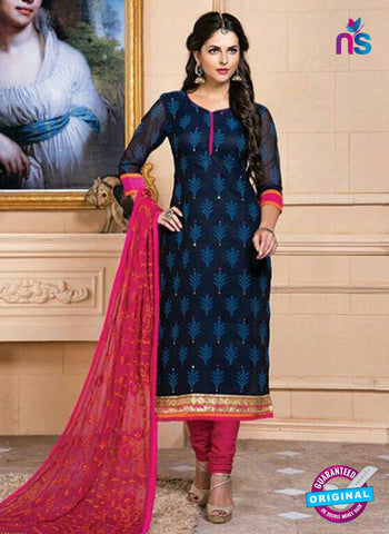AZ 5260 Blue Designer Chanderi Straight Suit