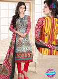 SC 13018 Multicolor and Red Printed Cambic Pakistani Suit