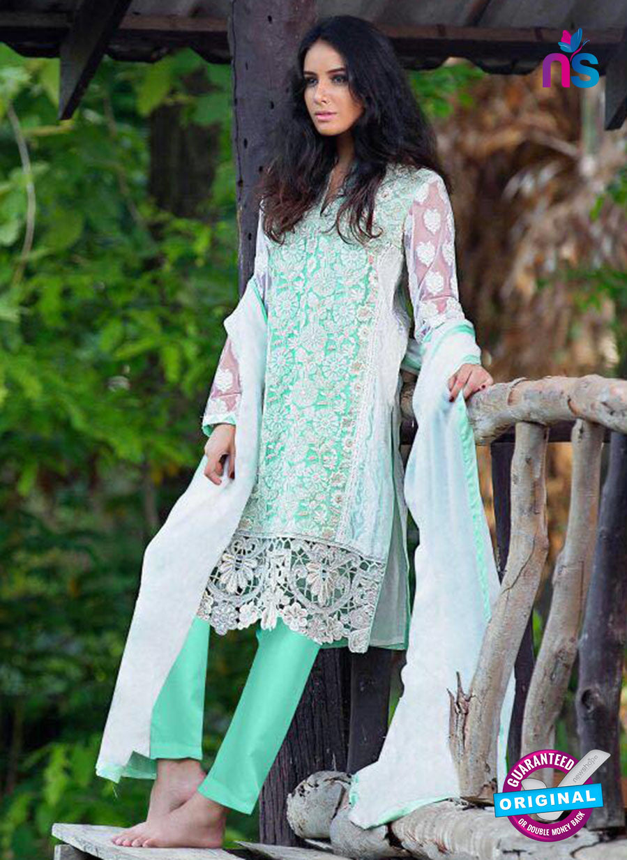 SC 13588 Sea Green Embroidered Georgette Designer Fancy Pakistani Suit