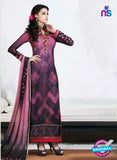 AZ 3490 Purple French Crepe Embroidery Formal Suit - Salwar Suits - NEW SHOP