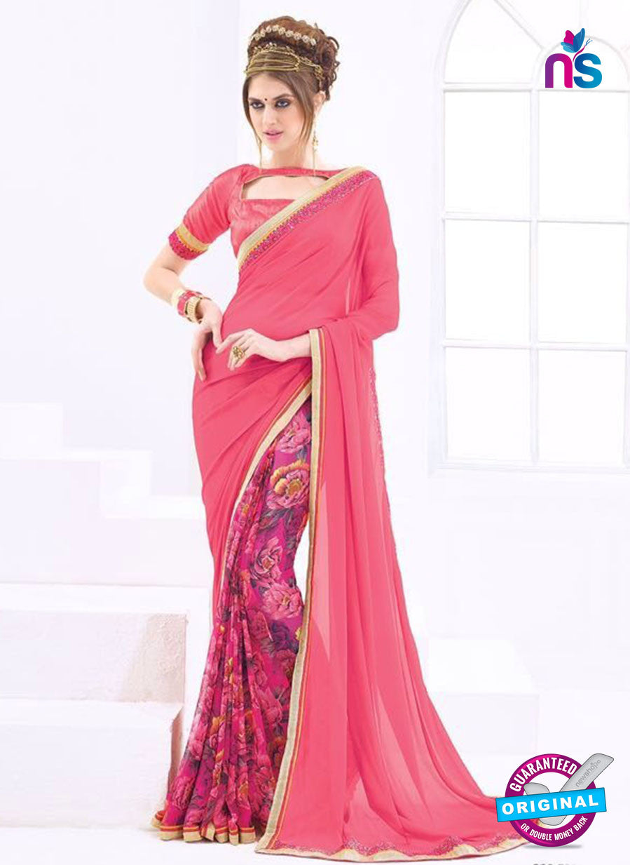 AZ 1099 Pink and Multicolor Georgette Fancy Formal Saree