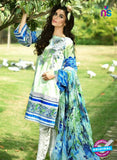 SC 13531 Green and Multicolor Lawn Cotton Designer Traditional Un Stitched Pakistani Suit