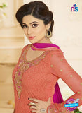 Vivek Fashion 1002 Peach Georgette Designer Suit