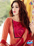 SC 13652 Red Printed Glace Satin Cotton Designer Fancy Ethnic Exclusive Salwar Straight Suit
