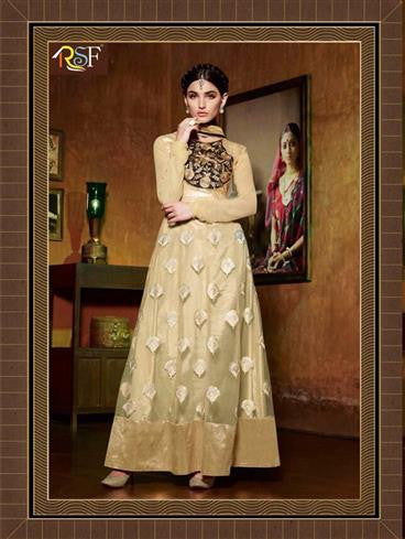 NS12086 Beige and Black Designer Suit