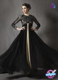 SC 13417 Black Embroidered Georgette Party Wear Anarkali Suit