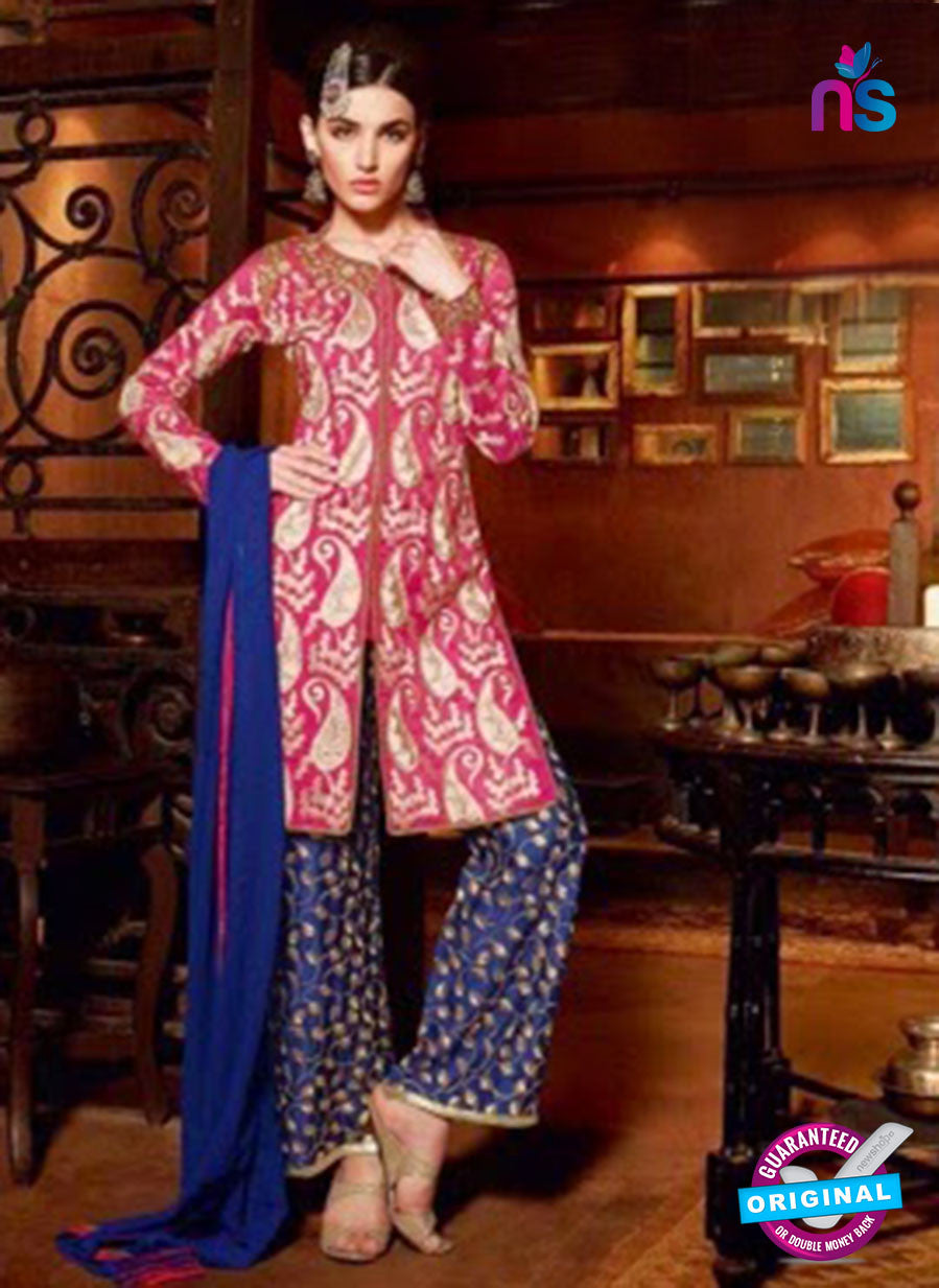 NS12090 Pink and Blue Designer Suit