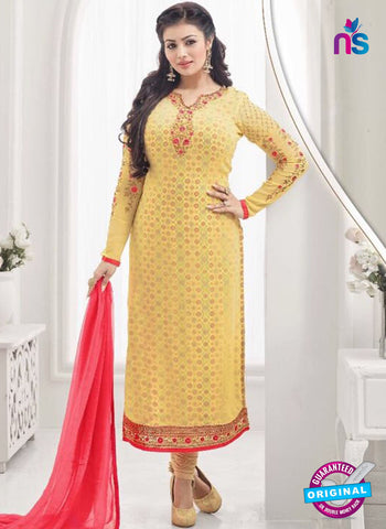 AZ 4063 Yellow Georgette Party Wear Suit