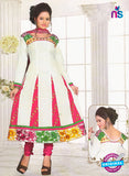 NS10242 White and Pink Anarkali Suit